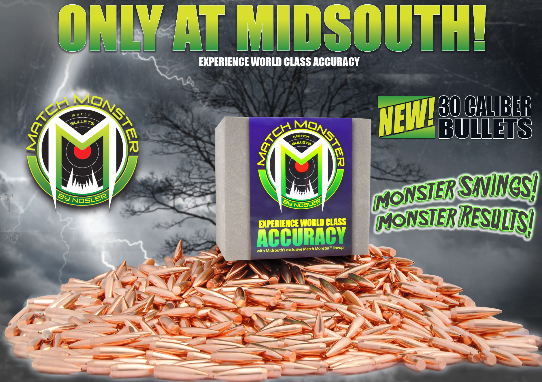 Midsouth Match Monster Bullets by Nosler, the New Match Grade .308 Bullets Made By Nosler Exclusively for Midsouth Shooters!