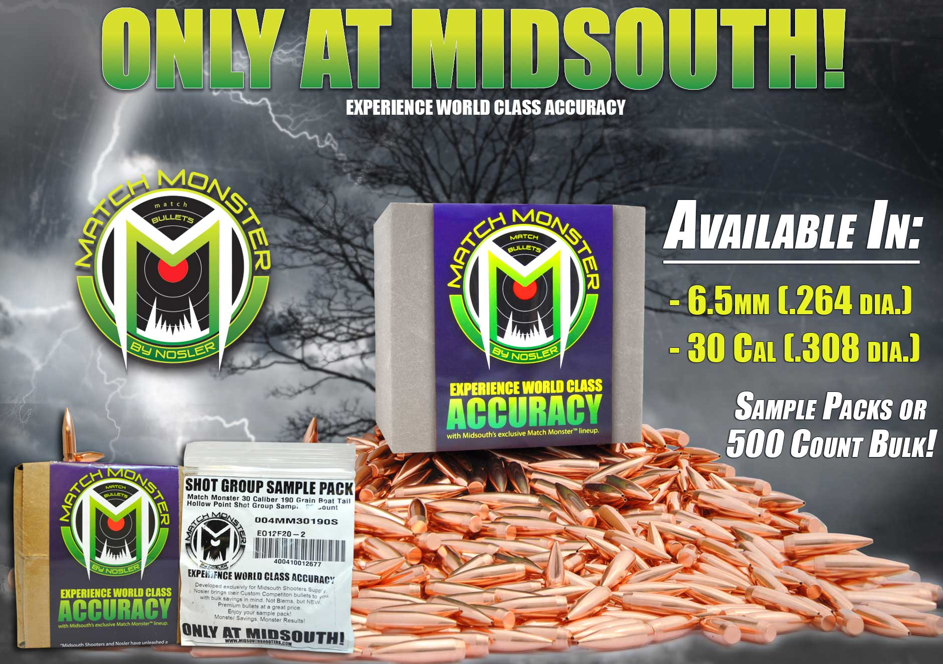 MIDSOUTH'S MATCH MONSTER™ BULLETS