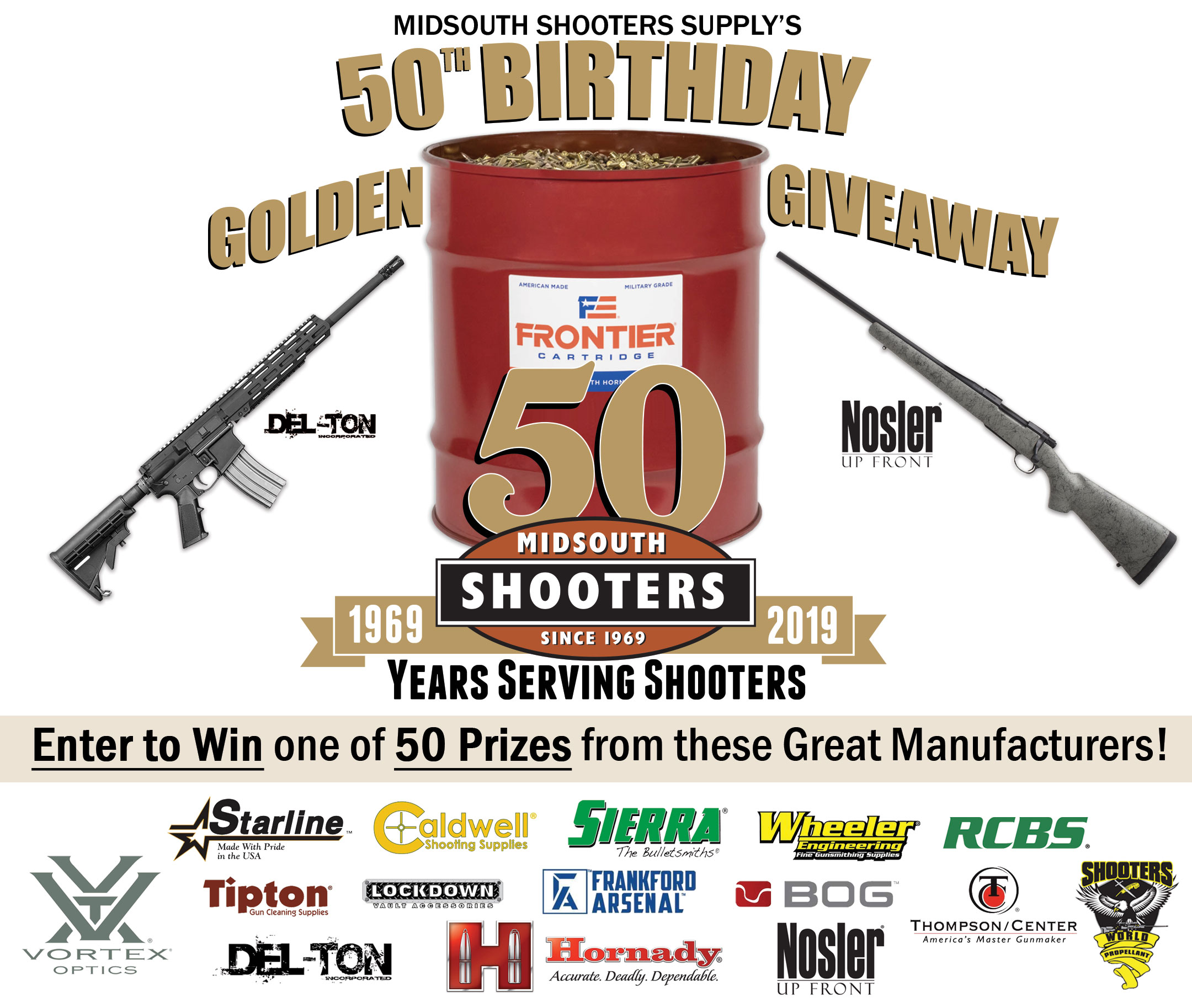 Midsouth's 50th Birthday Golden Giveaway and Sale