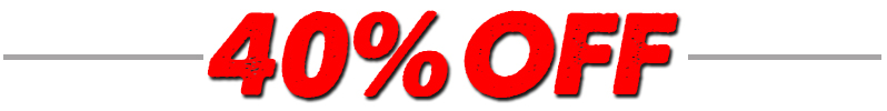 40 Percent Off Special Order Items
