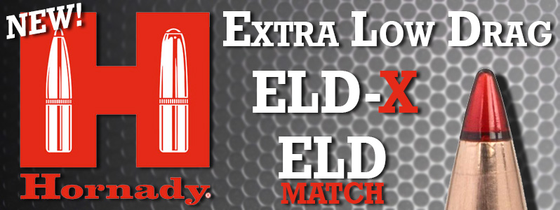ELD-X and ELD Match Bullets announced from Hornady Manufacturing
