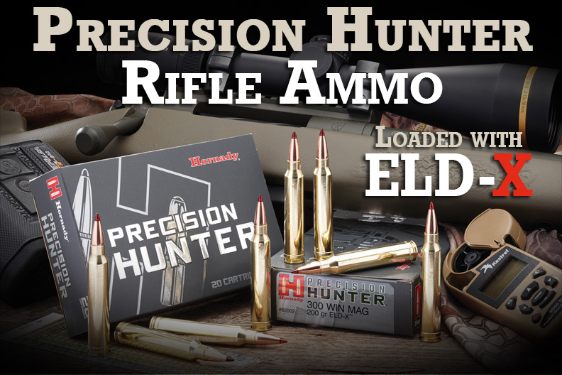 Hornady Precision Hunter Ammunition with ELD-X Bullets