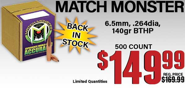 Shop Match Monster 6.5 Bullets