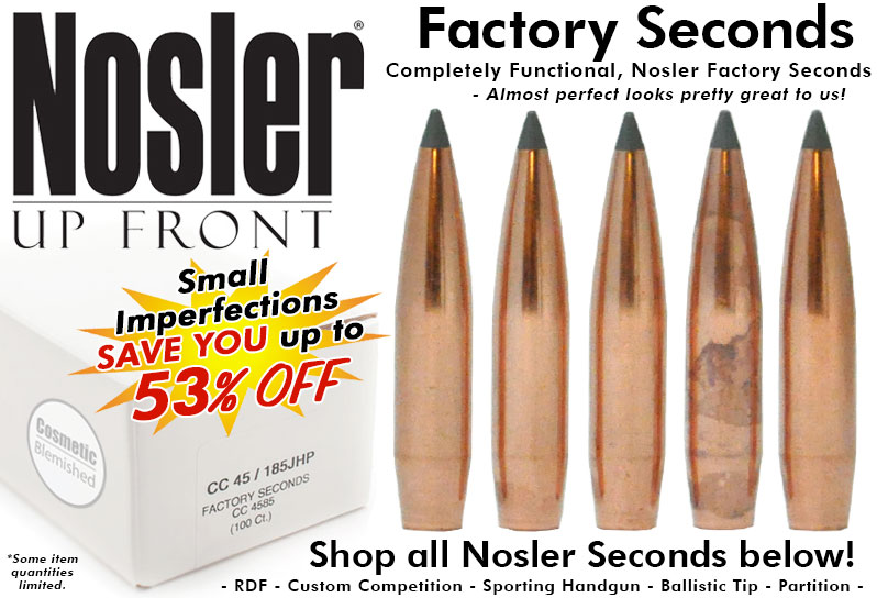 Nosler Factory Seconds Bullets
