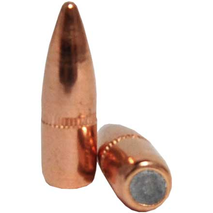 22 Caliber .224 Diameter 55 Grain FMJ Boat Tail With Cannelure 100 Count