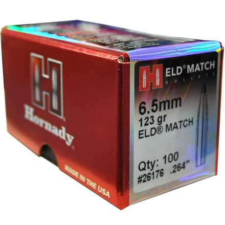 6.5mm .264 123 Grain ELD Match 100 Count