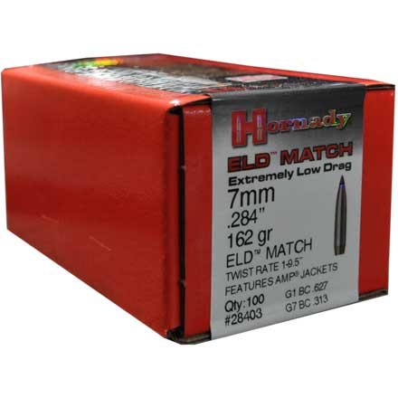 7mm .284 Diameter 162 Grain ELD-Match 100 Count