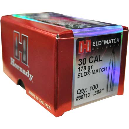 30 Caliber .308 178 Grain ELD Match 100 Count