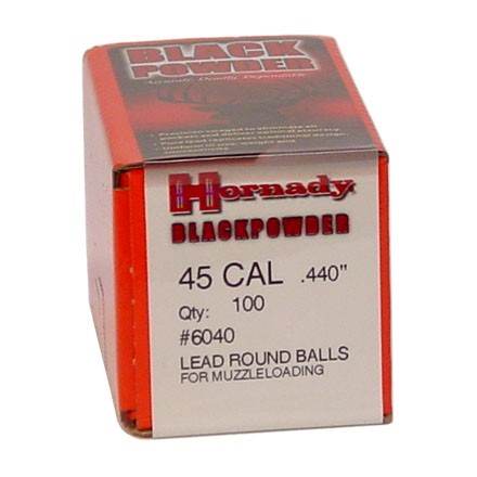 .440 Diameter 128 Grain Lead Round Balls 100 Count