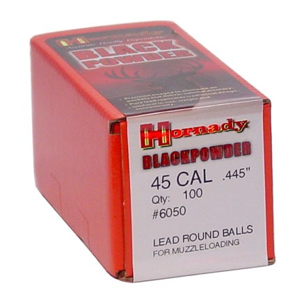 .445 Diameter 133 Grain Lead Round Balls 100 Count