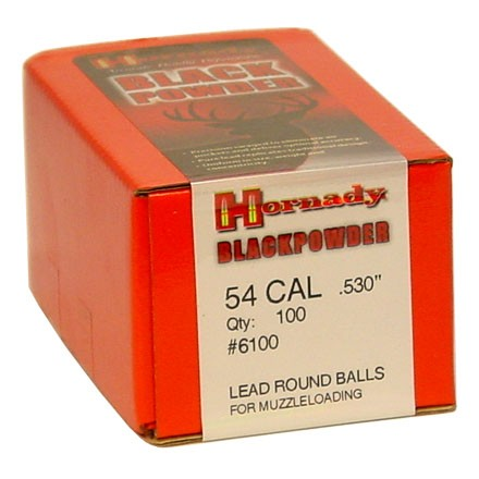 .530 Diameter 224 Grain Lead Round Balls 100 Count