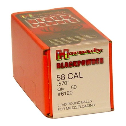 .570 Diameter 278 Grain Lead Round Balls 50 Count