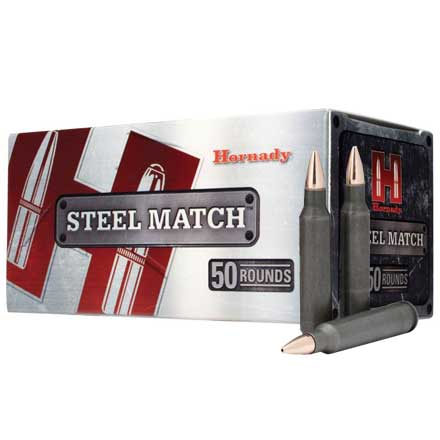 223 Remington 55 Grain Hollow Point Match Steel Case 50 Rounds
