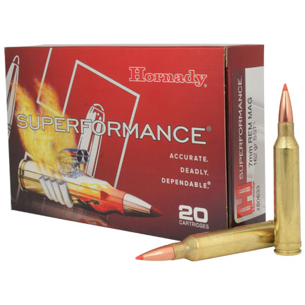 7mm Remington Mag 162 Grain (SST) Super Shock Tipped 20 Rounds