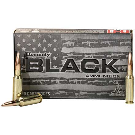 6mm ARC 105 Grain BTHP Match 20 Rounds Black