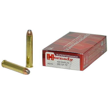 444 Marlin 265 Grain Flat Point Superformance 20 Rounds
