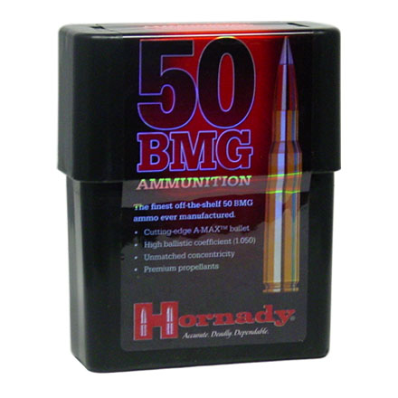 50 BMG 750 Grain A-Max 10 Rounds