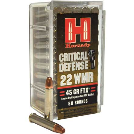 22 Winchester Mag 45 Grain FTX Critical Defense 50 Rounds