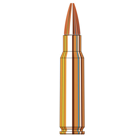 6.8mm SPC 110 Grain Boat Tail Hollow Point With Cannelure American Gunner Rifle Ammo 50 Round Boxes