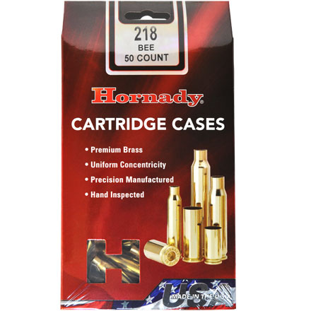 218 Bee Unprimed Rifle Brass 50 Count