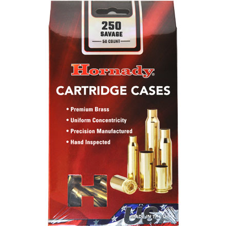250 Savage Unprimed Rifle Brass 50 Count