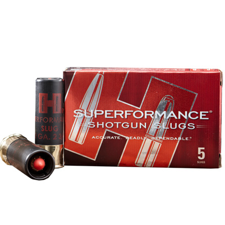 "12 Gauge Superformance Mono Flex Slug 2-3/4"" 300 Grain 5 Rounds"