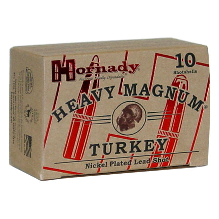 "12 Gauge 3"" Nickel Plated Heavy Magnum Turkey #4 Shot 10 Rounds"