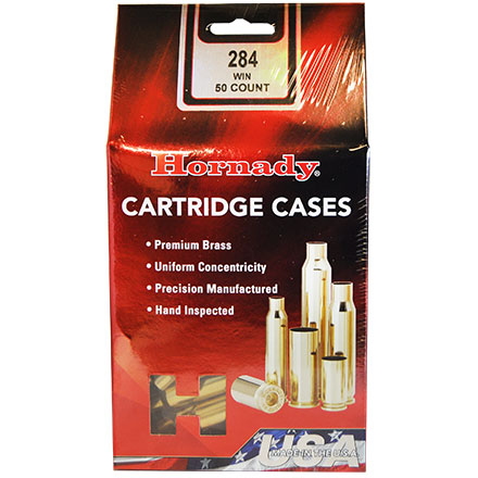 284 Winchester Unprimed Rifle Brass 50 Count