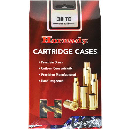 30 TC Unprimed Rifle Brass 50 Count
