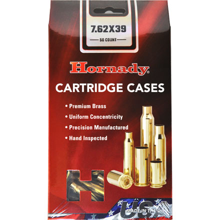 7.62x39 Unprimed Rifle Brass 50 Count