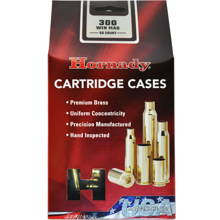 300 Winchester Mag Unprimed Rifle Brass 50 Count