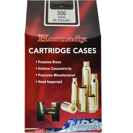 300 Winchester Short Mag Unprimed Rifle Brass 50 Count