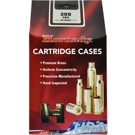 300 H&H Unprimed Rifle Brass 50 Count