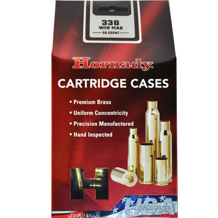 338 Winchester Mag Unprimed Brass 50 Count