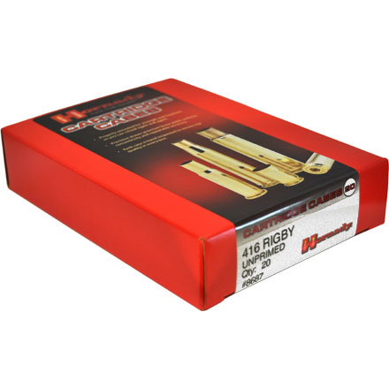 416 Rigby Unprimed Rifle Brass 20 Count