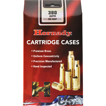 380 Auto Unprimed Brass 200 Count