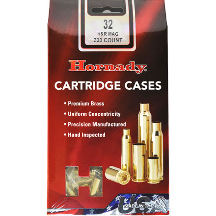32 H&R Magnum Unprimed Pistol Brass 200 Count