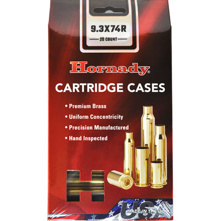 9.3x74R Unprimed Rifle Brass 20 Count