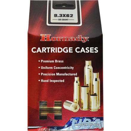 9.3x62 Unprimed Rifle Brass 50 Count