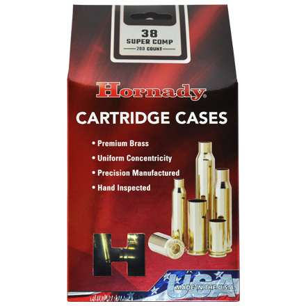 38 Super Comp Unprimed Pistol Brass 200 Count