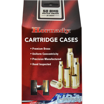 50 BMG Unprimed Rifle Brass 20 Count