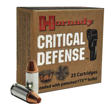 9mm Luger 115 Grain Critical Defense 25 Rounds