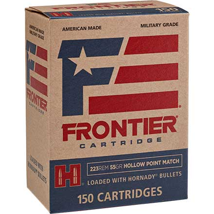Frontier 223 Remington 55 Grain Hollow Point Match 150 Rounds