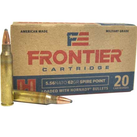 5.56 Nato 62 Grain Spire Point 20 Rounds