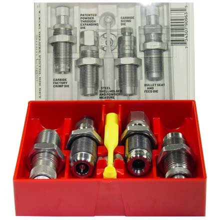 380 Auto Deluxe Pistol Carbide 4 Die Set With Shellholder
