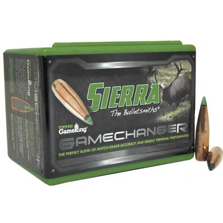 30 Caliber .308 Diameter 165 Grain TGK Game Changer Polymer Tipped Spitzer Boat Tail 100 Count