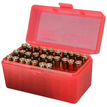 Image for 22 Hornet/218 Bee/30 Carbine 50 Round Ammo Box Green