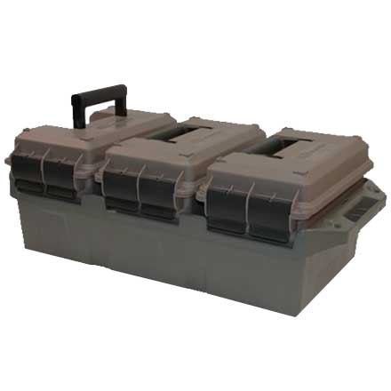 3-Can Ammo Crate for 50 Caliber Dark Earth / Army Green