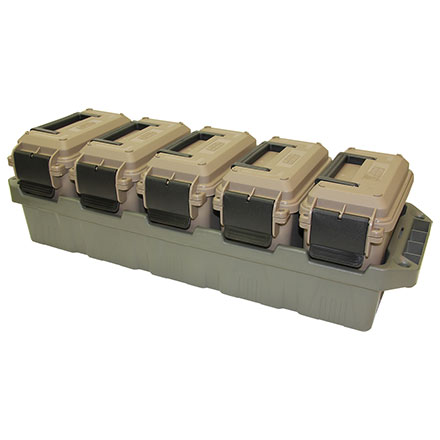 5 Can Ammo Crate Mini Dark Earth/Army Green (Holds 5 Mini Ammo Cans)