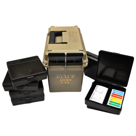 Image for 45 ACP Ammo Can (Includes  7 P-100-45S Ammo Boxes) Dark Earth
